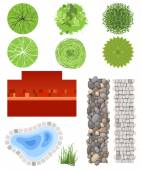 Landscape design elements — Stock Vector