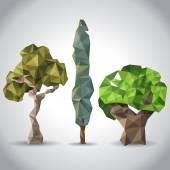 Lowpoly trees. — Vetorial Stock