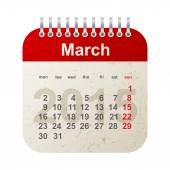 Calendar 2015 - march — Stock Vector