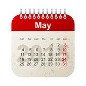 Calendar 2015 - may — Stock Vector