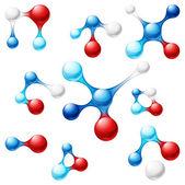 Iconos de la molécula — Vector de stock