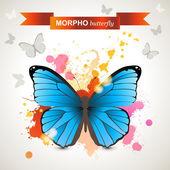 Morpho butterfly — Stock Vector