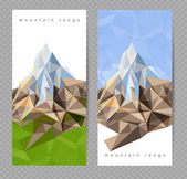 Banners with mountains — Stock Vector