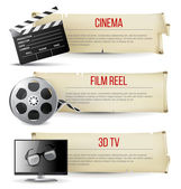 Carteles de cine — Vector de stock