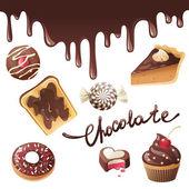 Chocolate icons — Stock Vector