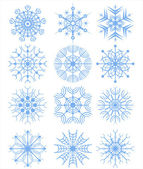 New snowflakes — Vector de stock