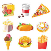 Fastfood icons — Stock Vector