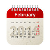 Calendar 2015 - february — Vettoriale Stock