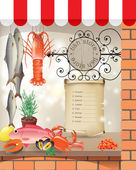 Fish store — Stock Vector
