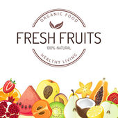 Fundo de frutas — Vetor de Stock