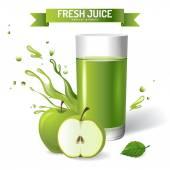 Fresh juice — Stock Vector