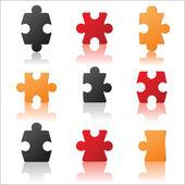 Puzzles details concept — Vector de stock