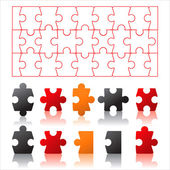 Puzzles details — Stock Vector