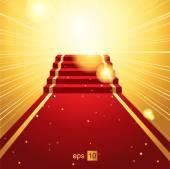 Red carpet — Stockvector