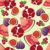Fruit seamless — Stock Vector