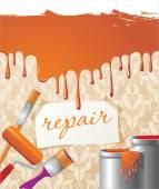 Repair composition — Stock Vector