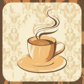 Retro-styled coffee cup — Stock Vector