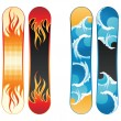 Snowboards — Stock Vector #60050577