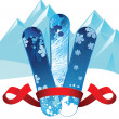 Snowboards banner — Stock Vector #60050587
