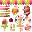 Ice cream emblems — Vector de stock  #60051313