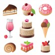 Sweets and candies icons set — Stock Vector #60051891
