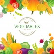Vegetable background — Stock Vector #60052503
