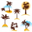 Palm trees — Stock Vector #60053839