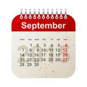 Calendar 2015 - september — Stock Vector