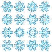Stickers snowflakes — Vector de stock