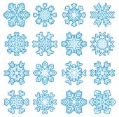 Stickers snowflakes — Stock vektor