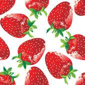 Strawberry seamless — Stock Vector