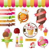 Ice cream emblems — Stock Vector