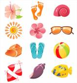 Summer time icons — Stock Vector