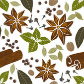 Seamless pattern with spices — Stock Vector