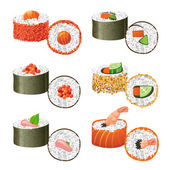 Great sushi set — Stock Vector