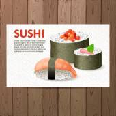 Advertising sushi card — Stock Vector