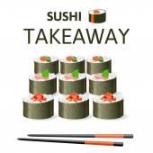 Great sushi set — Stock Vector