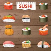Great sushi set — Vecteur