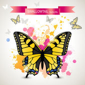 Swallowtail butterfly — Stock Vector