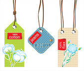 Textile labels — Stock Vector