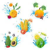 Fresh vegetables — Stock Vector