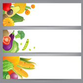 Vegetable banners — Stock Vector