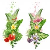Tropical plants — Stock Vector