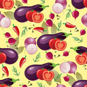 Violet vegetables seamless — Wektor stockowy