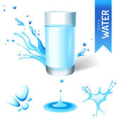 Glass of water — Stock Vector
