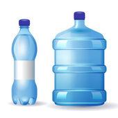 Water bottles — Stock Vector