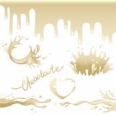 Biała czekolada. — Wektor stockowy