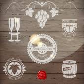 Wine emblems — Stock Vector