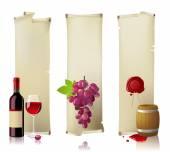 Wine banners — Stock Vector