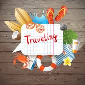 Traveling background — Stock Vector